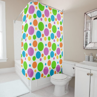 Big Dots Polka Dots Shower Curtain