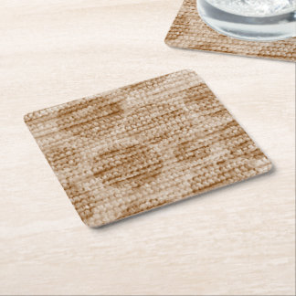 big dotted chenille,beige square paper coaster