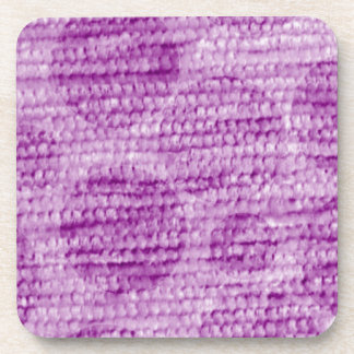 big dotted chenille,pink beverage coasters
