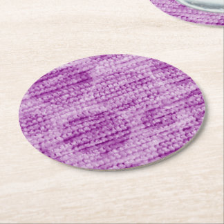 big dotted chenille,pink round paper coaster