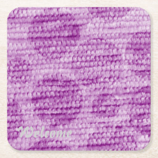 big dotted chenille,pink square paper coaster
