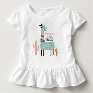 Big Dreamer Llama with Cactus Toddler T-Shirt