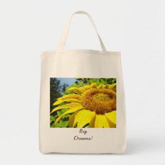 Big Dreams! Beach Tote bag Duffle bags Sunflowers