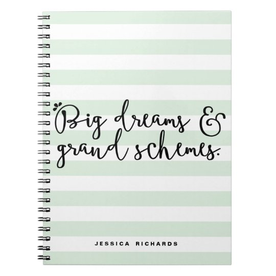 Big Dreams & Grand Schemes Personalised Notebook