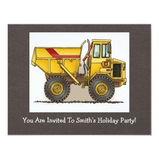"""Big Dump Truck 4.25"""" X 5.5"""" Invitation Card"""