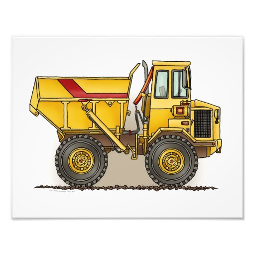 Big Dump Truck Art Photo
