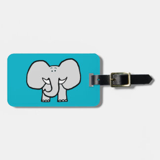 Big Ears the Elephant Blue Luggage Tag
