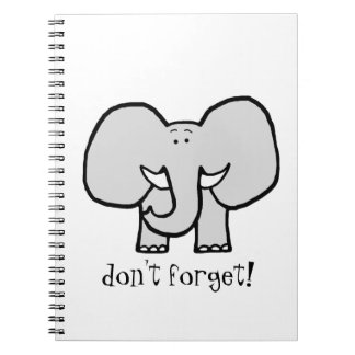 Big Ears the Elephant Don't Forget Notebook