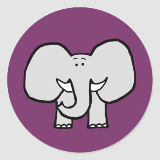 Big Ears the Elephant Purple Stickers