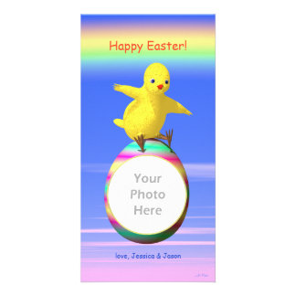 Big Easter Chicken Wings Personalized Photo Card