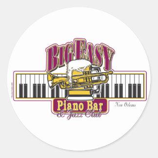 BIG-EASY-Piano-BAR- Round Sticker