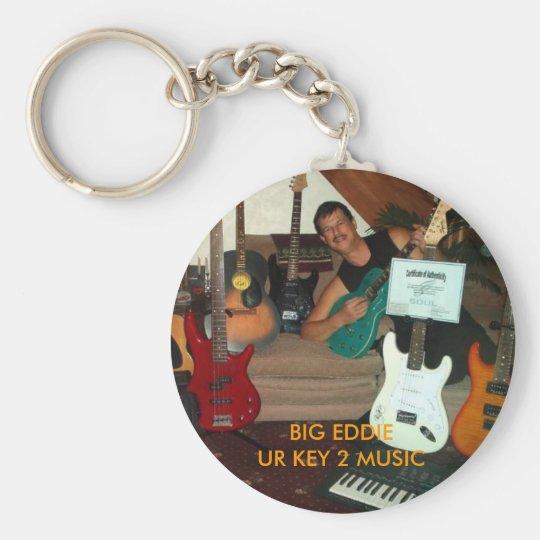 BIG EDDIE UR KEY 2 MUSIC BASIC ROUND BUTTON KEY RING