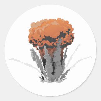 Big Explosion Round Sticker