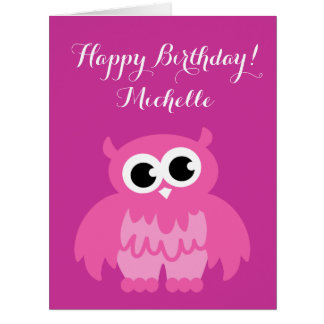 Big extra large Birthday card with name for girls
