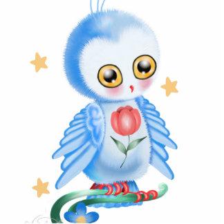 Big Eye Blue Owl Acrylic Cut Outs