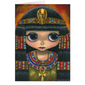 Big Eye Cleopatra with Snake Headpiece and Ankh Card