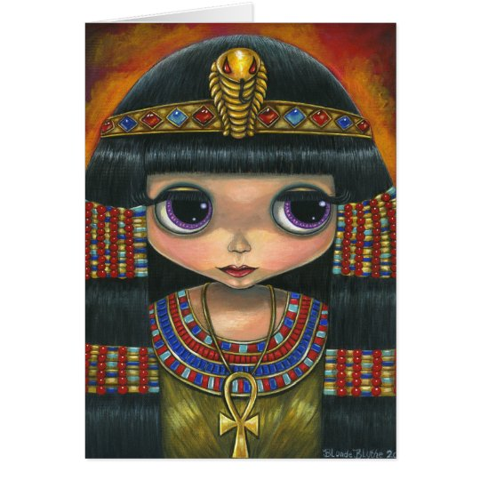 Big Eye Cleopatra with Snake Headpiece and Ankh