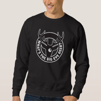 Big Eye Deer Black Sweatshirt