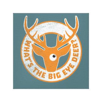 Big Eye Deer Worn Orange Canvas Prints