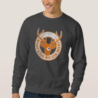 Big Eye Deer Worn Orange Sweatshirt