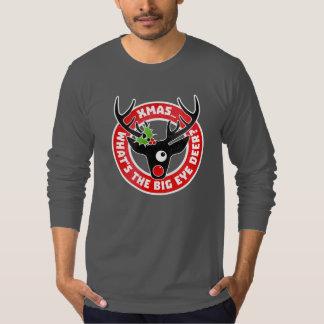 Big Eye Deer Xmas Worn T-Shirt