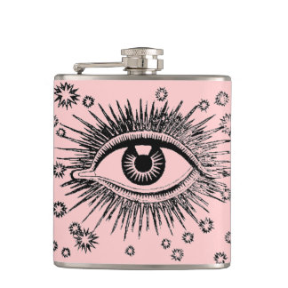 Big Eye Mystic ICU Nurse Doctor Odd Hip Flask Gift
