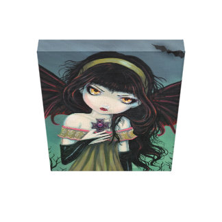 Big Eye Vampire Gallery Wrapped Canvas Print