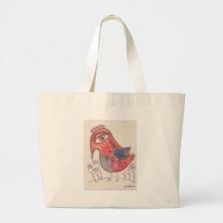 Big Eyed Bird Jumbo Tote Bag