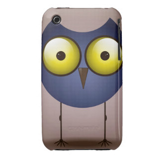 Big Eyed Blue Owl iPhone 3 Cover