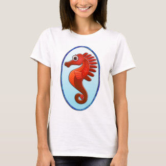Big Eyed Cartoon Seahorse T-Shirt