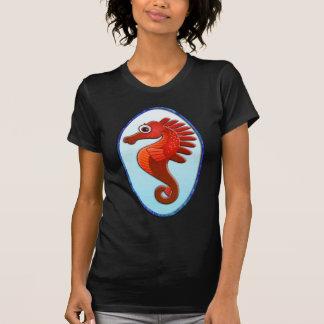 Big Eyed Cartoon Seahorse Tee Shirt