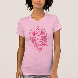 Big Eyed Sparrow (pink) T-shirt