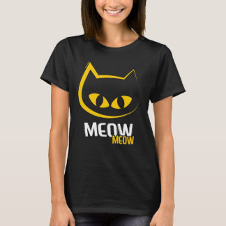 Big-Eyed Yellow Meow Cat T-Shirt