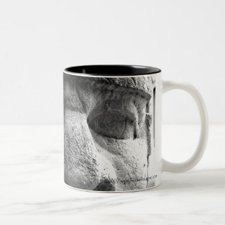 Big Eyes, Big Nose Two-Tone Mug