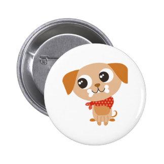Big Eyes Dog 6 Cm Round Badge