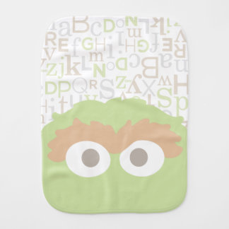 Big Face Baby Oscar the Grouch Baby Burp Cloths