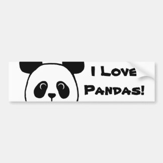 Big Face Panda Cartoon Bumper Sticker