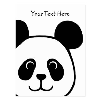 Big Face Panda Cartoon Postcard