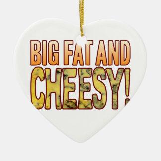Big Fat And Blue Cheesy Ceramic Heart Decoration