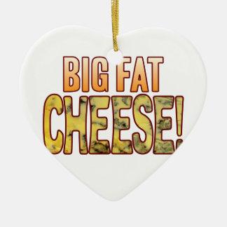 Big Fat Blue Cheese Ceramic Heart Decoration