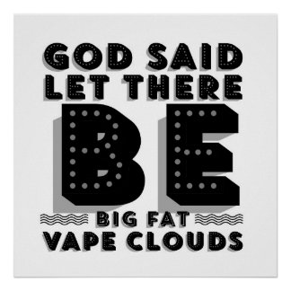Big Fat Clouds Premium Poster