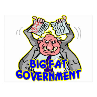 Big Fat Federal Government Ripping Up Constitution Postcard