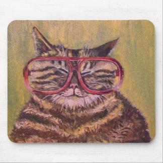 Big Fat Glasses Cat Mousemat