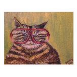 Big Fat Glasses Cat Postcard