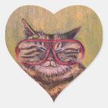 Big Fat Glasses Cat Sticker