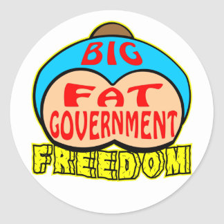 Big Fat Government Crushing Freedom Stickers