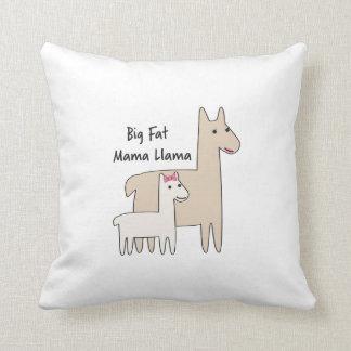 Big Fat Mama Llama Throw Pillow