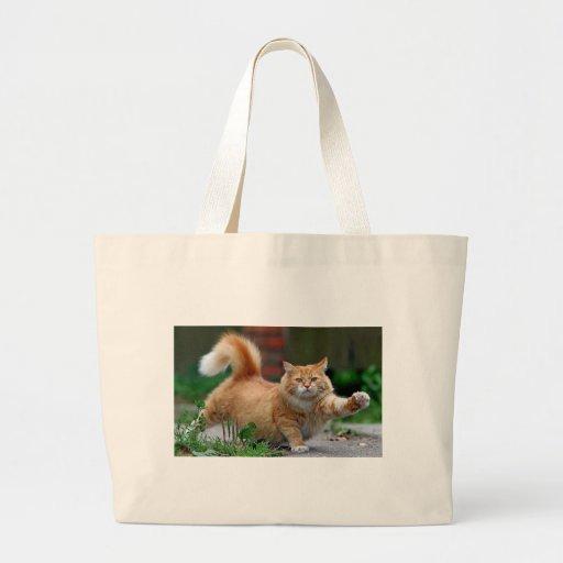 Big Fat Orange Cat Tote Bag