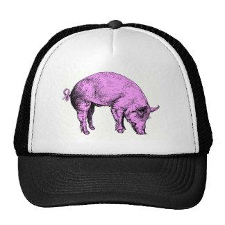 Big Fat Pink Pig Trucker Hats