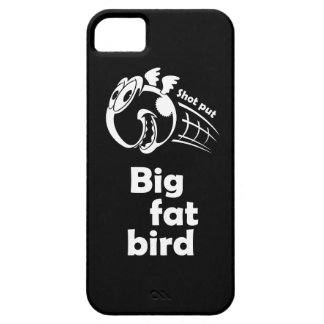 Big fat shot put bird barely there iPhone 5 case